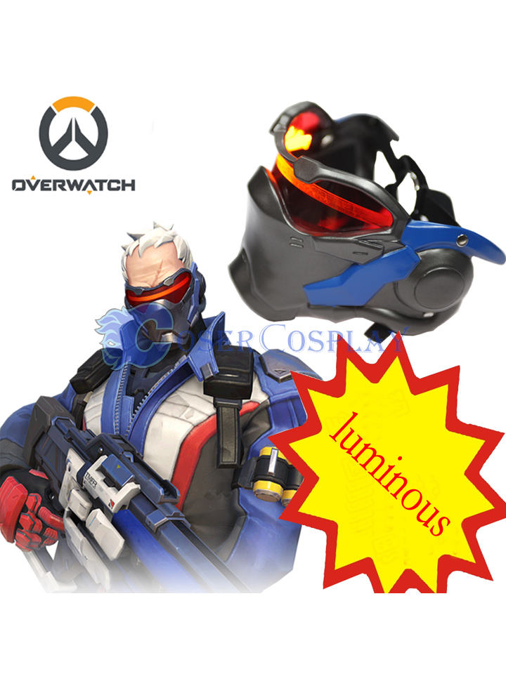Overwatch OW Soldier 76 Mask Cosplay Accessories